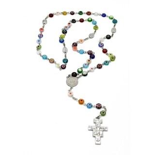 Full Five Decade Rosary using Millefiori Glass Beads.