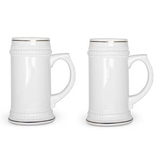 2 Pack Ceramic 18 Oz. Stein Pub Beer Mug - Ceramic tankard Beer Mugs