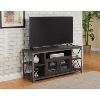 Martin Svensson Home Arts District Loft Charred Oak Wood Metal 55-inch TV Stand