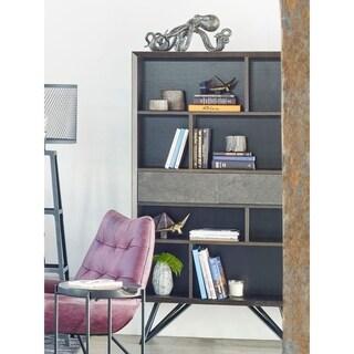 Aurelle Home Modern Italian Grey Ceramic Storage Shelf