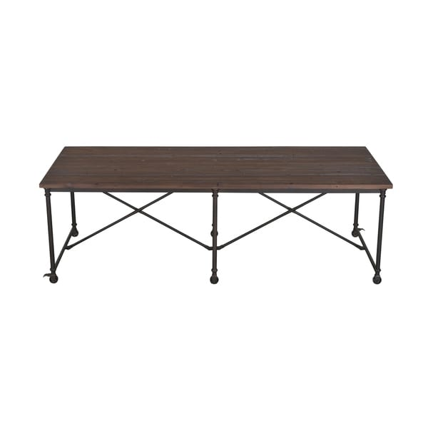 Shop Priage By Zinus Farmhouse Wood Dining Table: Shop Aurelle Home Farmhouse Rustic Solid Fir Wood Dining