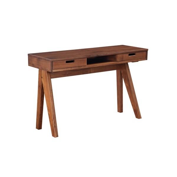 Modern Brown Solid Walnut Drawer Coffee Table
