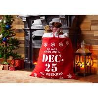 No Peeking Mistletoe & Co Holiday Christmas Sack