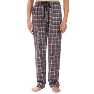Leisureland Men's Gray Plaid Pajama Pants