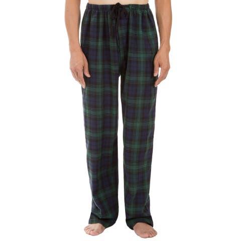 Leisureland Men's Green Plaid Pajama Pants