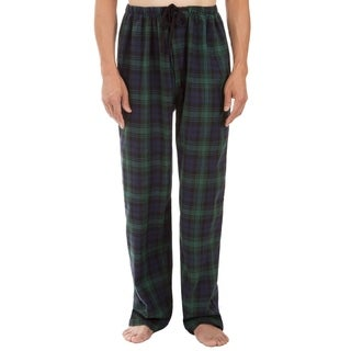 Leisureland Men's Green Plaid Pajama Pants