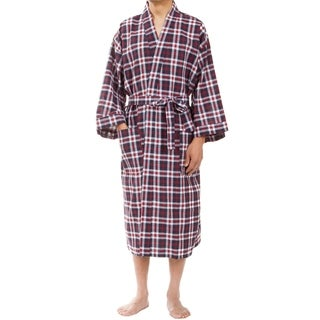 Leisureland Men's Red Plaid Robe