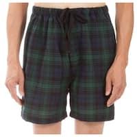 Leisureland Men's Green Plaid Pajama Boxer Shorts