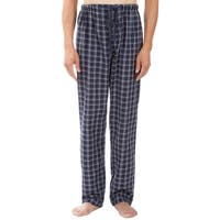 Leisureland Men's Navy Plaid Pajama Pants