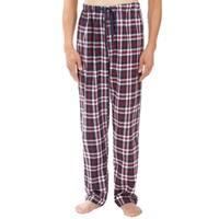 Leisureland Men's Red Plaid Pajama Pants