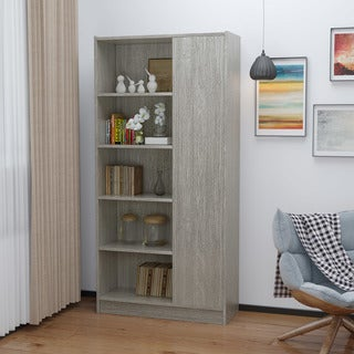 Amelia Mid-Century 5-Shelf Wood Century Cabinet by Christopher Knight Home