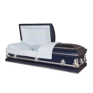 Titan Casket - Orion Dark Blue 20 Gauge Steel Casket