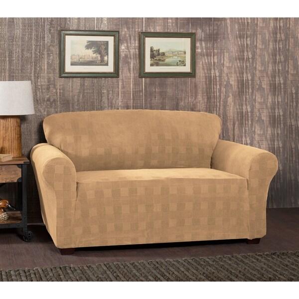 Plaid Sofa stretch sensations stretch plaid sofa slipcover free shipping