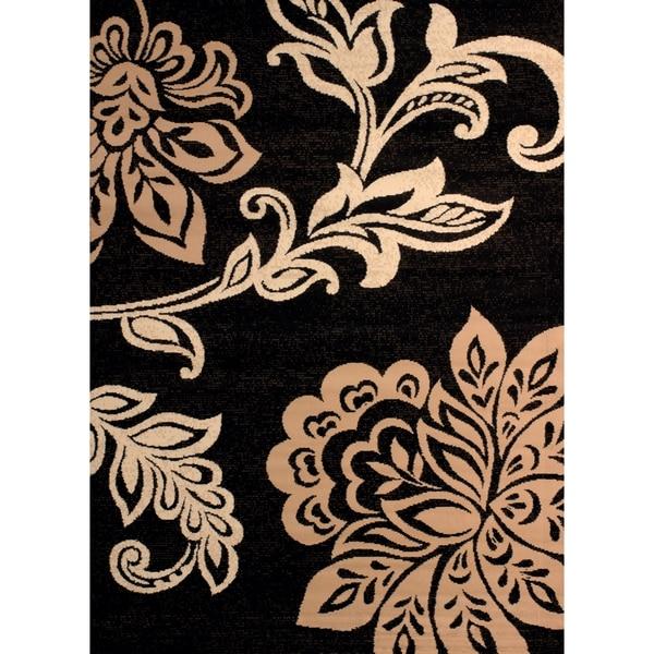 "Westfield Home Montclaire Modern Floral Beige Accent Rug - 1'11"" x 3'3"""