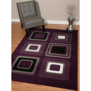 "Westfield Home Montclaire Contemporary Color Blocks Lilac Accent Rug - 1'11"" x 3'3"""