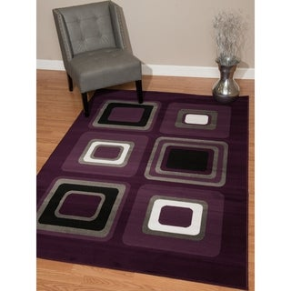 "Westfield Home Montclaire Contemporary Color Blocks Lilac Accent Rug - 1'11"" x 3'3"""