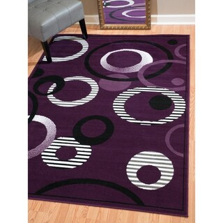 """Westfield Home Montclaire Contemporary Abstract Circles Lilac Accent Rug - 1'11"""" x 3'3"""""""