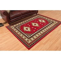 "Westfield Home Montclaire Feranda Traditional Red Accent Rug - 1'11"" x 3'3"""