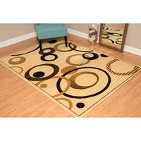 "Westfield Home Montclaire Contemporary Abstract Circles Ivory Accent Rug - 1'11"" x 3'3"""