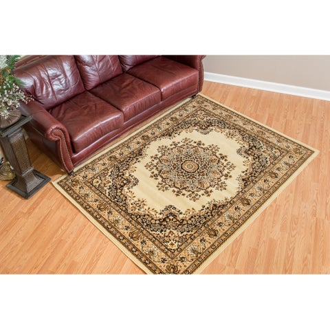 """Westfield Home Montclaire Traditional Oriental Ivory Accent Rug - 1'11"""" x 3'3"""""""