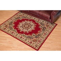 "Westfield Home Montclaire Traditional Oriental Red Area Rug - 5'3"" x 7'2"""