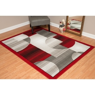"Westfield Home Montclaire Circle Block Brown Area Rug - 5'3"" x 7'2"""