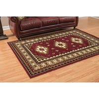 "Westfield Home Montclaire Feranda Traditional Burgundy Area Rug - 5'3"" x 7'2"""