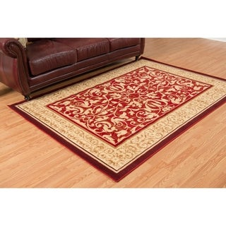 """Westfield Home Montclaire Genevieve Red Area Rug - 5'3"""" x 7'2"""""""