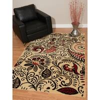 """Westfield Home Montclaire Ginger Red Area Rug - 5'3"""" x 7'2"""""""