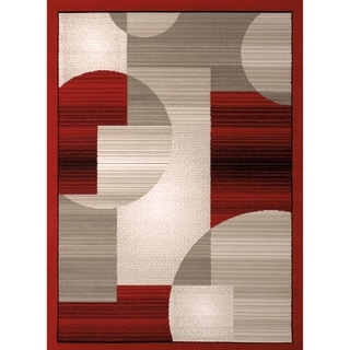 Westfield Home Montclaire Circle Block Red Runner Rug - 2'3 x 7'2""
