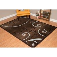 """Westfield Home Montclaire Ginger Ivory Area Rug - 5'3"""" x 7'2"""""""
