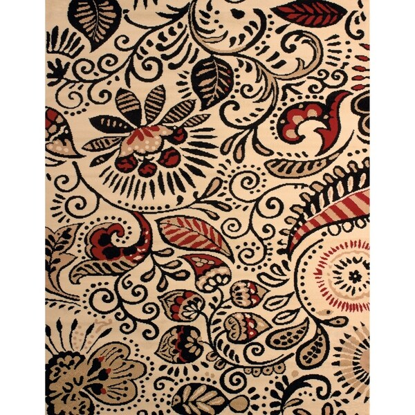 "Westfield Home Montclaire Ginger Ivory Area Rug - 5'3"" x 7'2"""