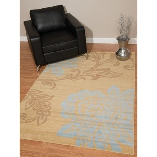 "Westfield Home Montclaire Modern Floral Plum Area Rug - 5'3"" x 7'2"""