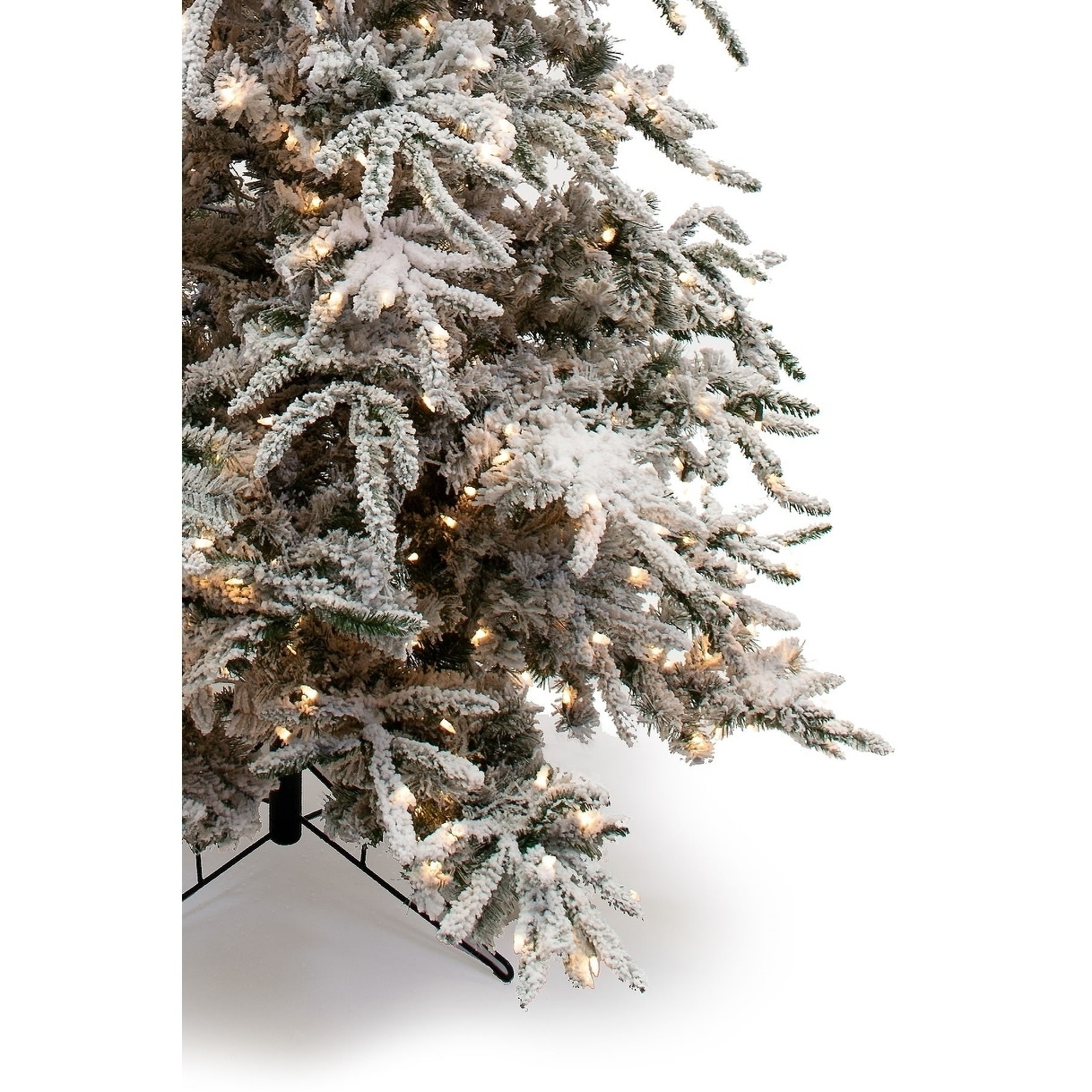the latest d3473 97a4d 7.5' Flocked Balsam Pine Christmas Tree