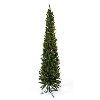 7.5' Pencil Darwin Prelit Christmas Tree
