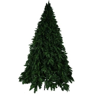 Smoky Mountain Hook Green 7.5-foot Unlit Artificial Christmas Tree