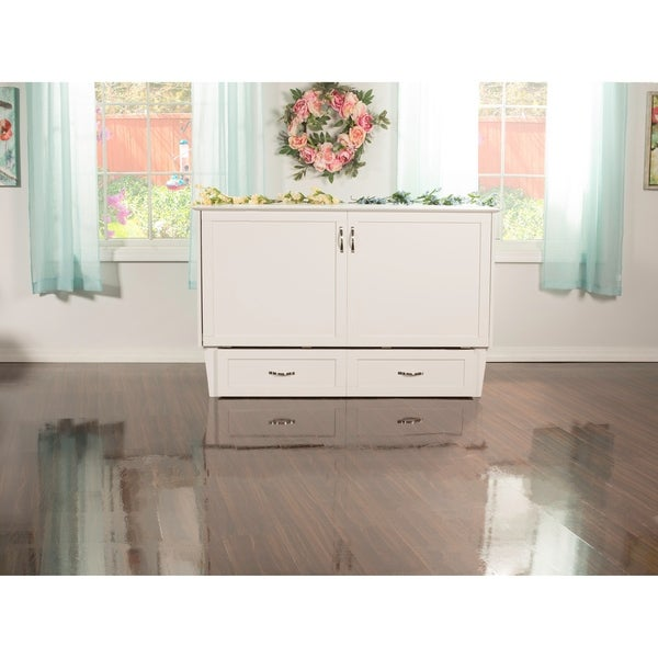 Atlantic Furniture Madison Murphy Queen Size Bed Chest In White Finish With  USB Charging Station