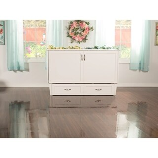 Atlantic Furniture Madison Murphy Queen-Size Bed Chest in White finish with USB Charging Station