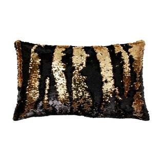 12x20 Melody Mermaid Reversed to Shiny Metallic Faux Linen Pillow