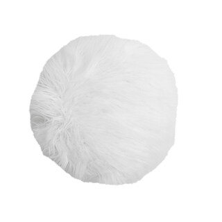 "16"" Kari Keller Round Faux Mongolian Pillow"