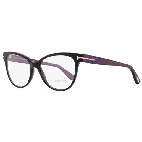 25e2688b6245 Tom Ford TF5291 005 Womens Black Iridescent Chalkstripe 55 mm Eyeglasses