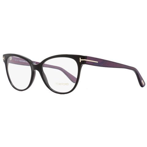 Tom Ford TF5291 005 Womens Black/Iridescent Chalkstripe 55 mm Eyeglasses