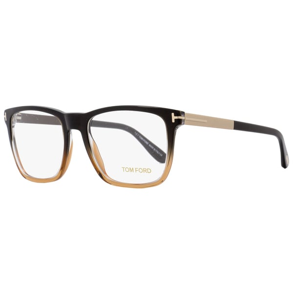 0afc6f63b5d4a Shop Tom Ford TF5351 050 Unisex Black Brown Gold 54 mm Eyeglasses - Free  Shipping Today - Overstock - 18778817