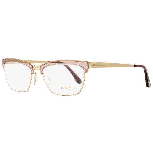 da4481ef3ad Tom Ford TF5392 050 Womens Transparent Brown Gold 54 mm Eyeglasses