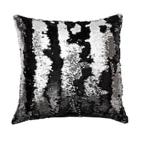 20x20 Melody Mermaid Reversed to Shiny Metallic Faux Linen Pillow