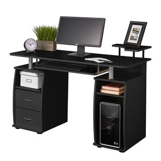 Fineboard Home Office Computer Desk (Option: Black)