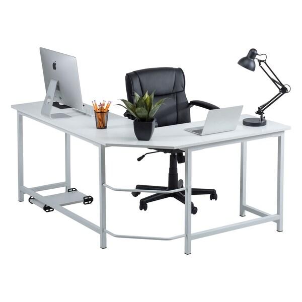 L Shaped Corner Desk Computer Workstation Home Office: Shop Fineboard Stylish L-Shaped Office Computer Corner