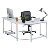 Fineboard Stylish L-Shaped Office Computer Corner Desk Elegant & Modern Design