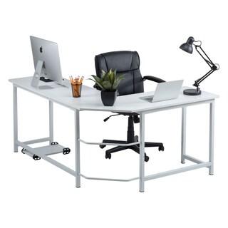 buy l shaped desks online at overstock com our best home office rh overstock com metal l shaped desk frame metal l shaped desk with drawers