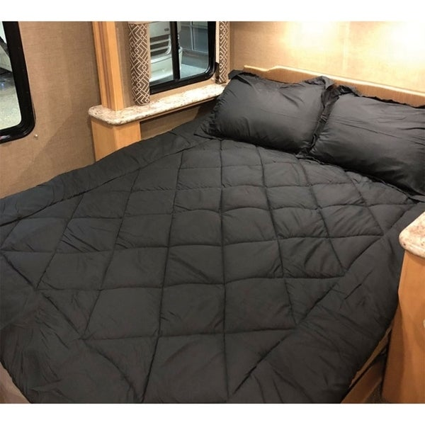 Shop Byb Short Queen Comforter Rv Bedding Black Free